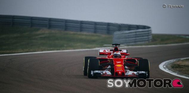 Kimi Raikkonen en la prueba del SF70-H - SoyMotor.com