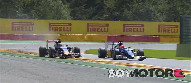 Max Verstappen y su maniobra sobre Felipe Nasr en Spa-Francorchamps - LaF1