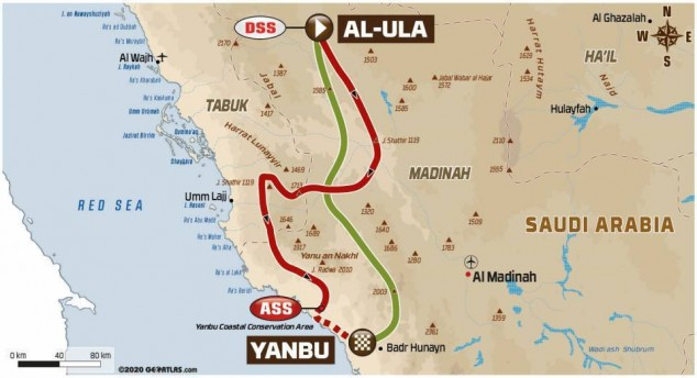 Dakar 2021: así es el recorrido de la Etapa 11 - SoyMotor.com