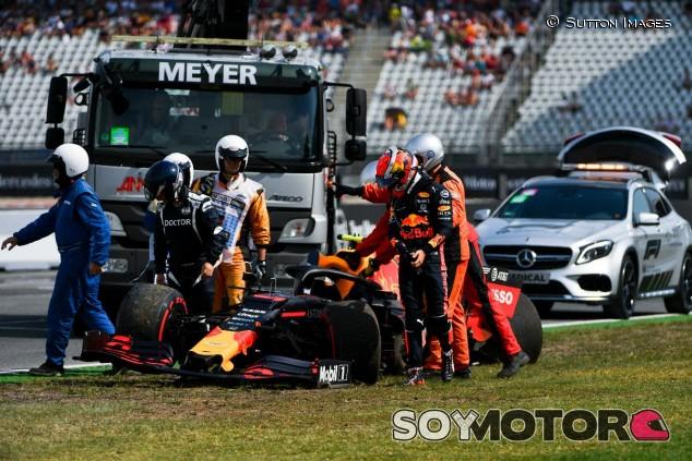 Pierre Gasly tras un accidente en el GP de Alemania F1 2019 - SoyMotor