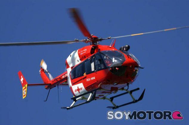 Helicóptero de Rega, la empresa que organizó el traslado de Schumacher - LaF1