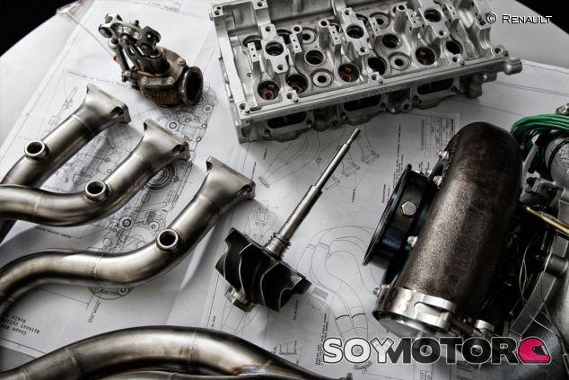 Detalle del trabajo que Renault está realizando en su V6 de 2014 - LaF1