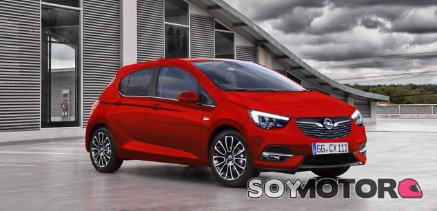 Render del Opel Corsa 2019 - SoyMotor.com