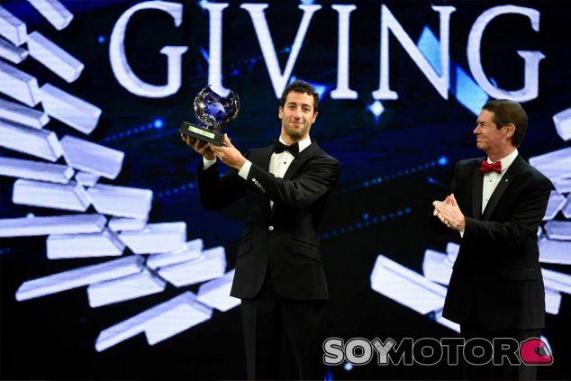 Daniel Ricciardo en la gala de la FIA - LAF1
