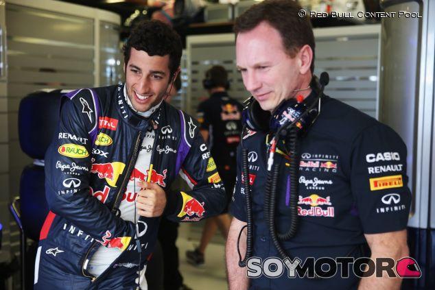 Daniel Ricciardo y Christian Horner - LaF1