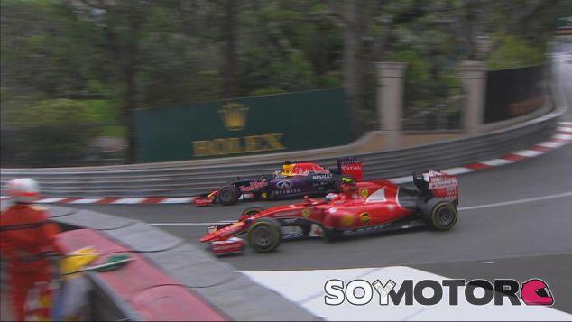 Instante en el que Ricciardo adelantaba a Räikkönen en Mirabeau - LaF1