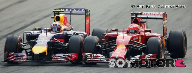 Daniel Ricciardo y Kimi Räikkönen en Monza 2014 - LaF1