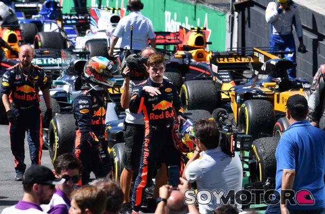 Daniel Ricciardo y Max Verstappen en Brasil - SoyMotor.com