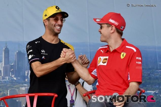 Ricciardo ve a Vettel con hambre para seguir en F1 en 2021 - SoyMotor.com