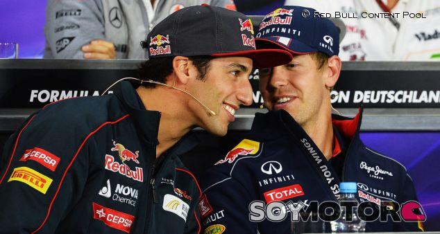Sebastian Vettel y Daniel Ricciardo - LaF1