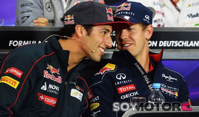 Daniel Ricciardo y Sebastian Vettel compartirán box en 2014 - LaF1