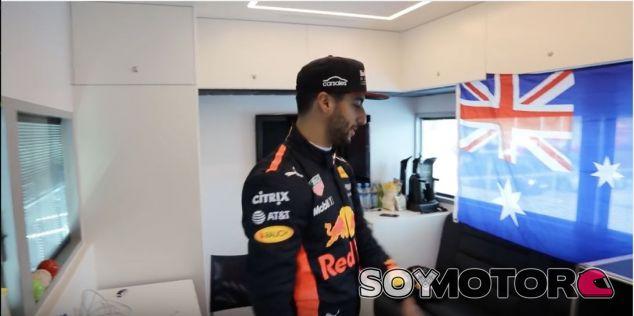 Captura de pantalla del vídeo de Ricciardo – SoyMotor.com