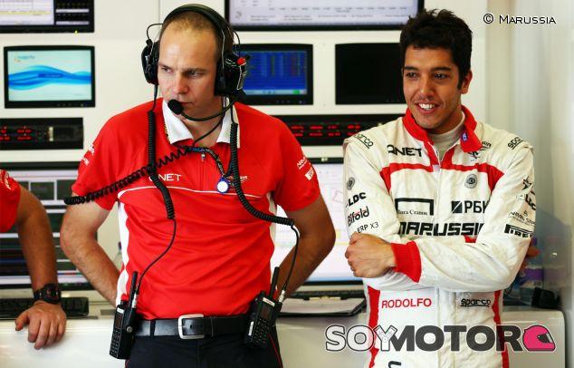 Rodolfo González durante los tests de jóvenes pilotos de julio de 2013 - LaF1