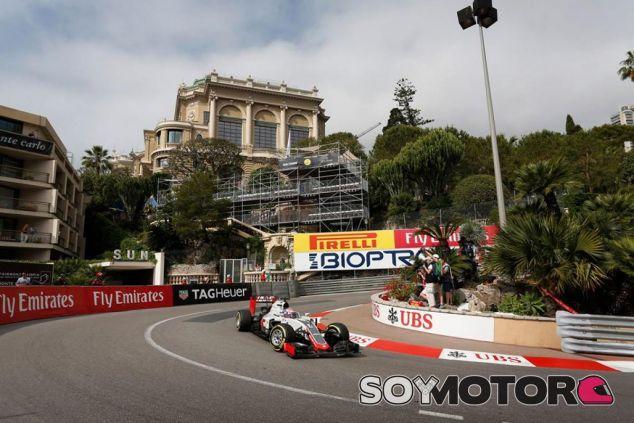 Grosjean en el GP de Mónaco - LaF1