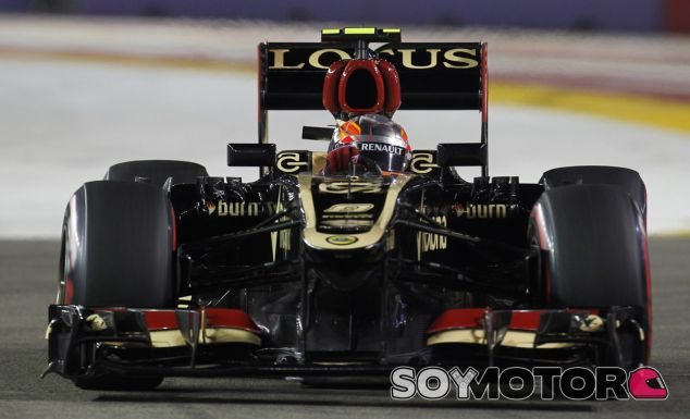 Romain Grosjean en el Lotus E21 - LaF1