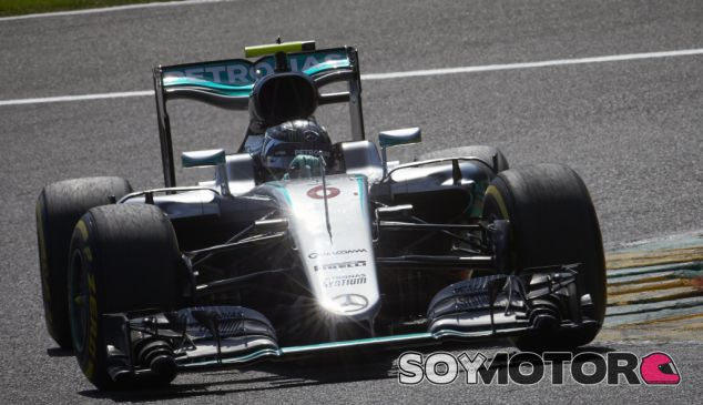 Rosberg durante el GP de Bélgica - SoyMotor