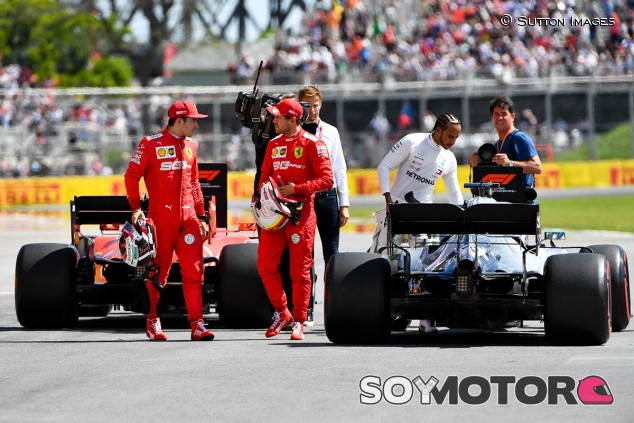 Leclerc y Vettel conversan tras la clasificación del GP de Canadá F1 2019 - SoyMotor
