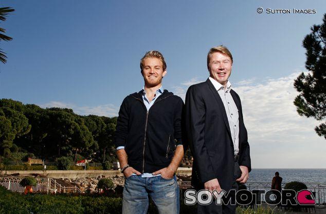 Nico Rosberg y Mika Häkkinen en Mónaco - SoyMotor.com