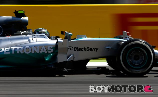 Nico Rosberg a los mandos del Mercedes W05 Hybrid - LaF1