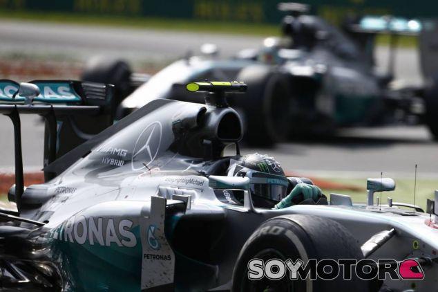 Nico Rosberg y Lewis Hamilton en Italia - LaF1