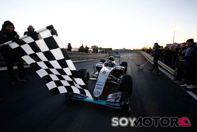 Nico Rosberg, ayer en la fiesta de fin de año de Mercedes - LaF1