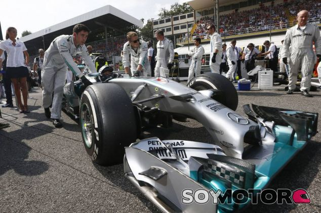 Nico Rosberg en la parrilla de Italia - LaF1