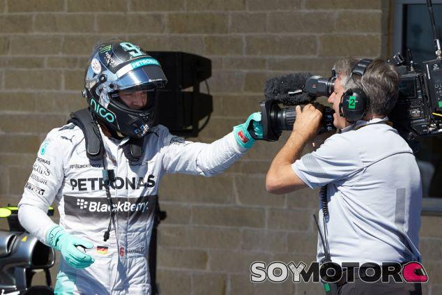 Nico Rosberg tras conseguir la Pole Position - LaF1