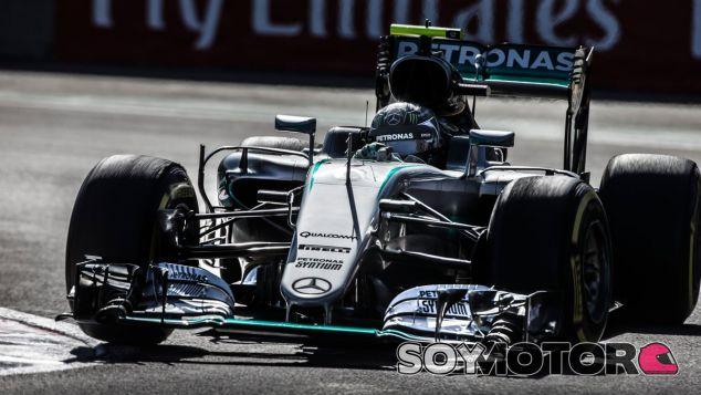 Rosberg, durante la carrera en el GP de México - LaF1