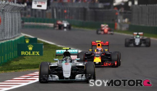 Nico Rosberg y Daniel Ricciardo en México - LaF1