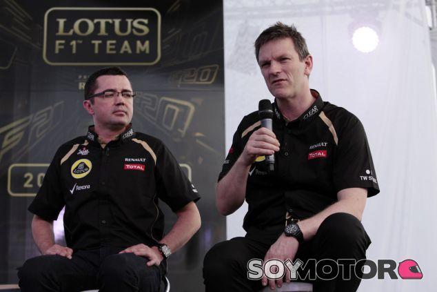 James Allison y Eric Boullier durante su estancia en Lotus - LaF1.es