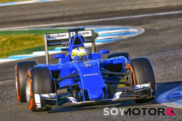 El Sauber de Ericsson durante los test de pretemporada - LaF1.es