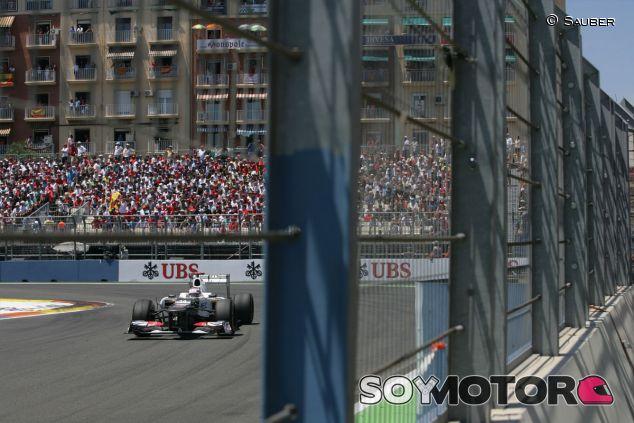 Kamui Kobayashi durante el Gran Premio de Europa de 2012 - LaF1