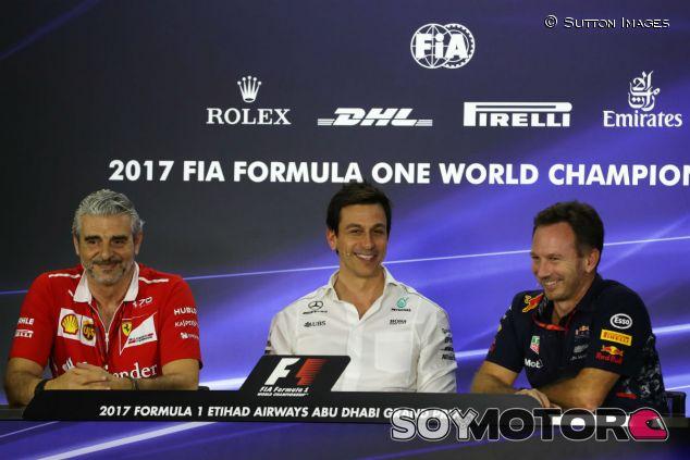 Arrivabene, Wolff y Horner en Abu Dabi - SoyMotor.com