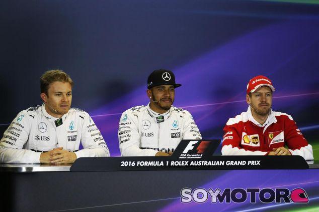 Los tres hombres más rápidos de la clasificación en rueda de prensa - LaF1