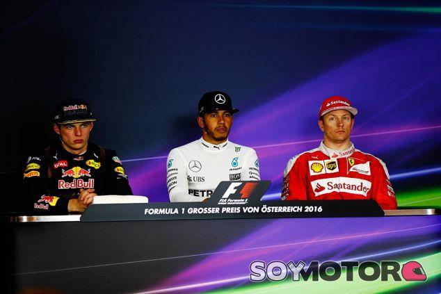Los tres primeros clasificados del Gran Premio de Austria - LaF1