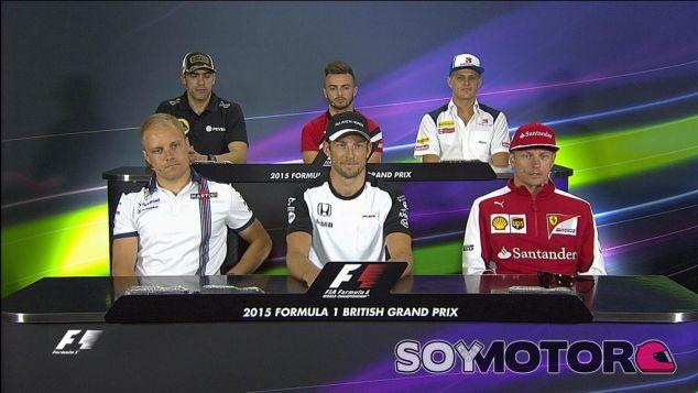 Bottas, Button, Räikkönen, Maldonado, Stevens y Ericsson, antes los medios - LaF1