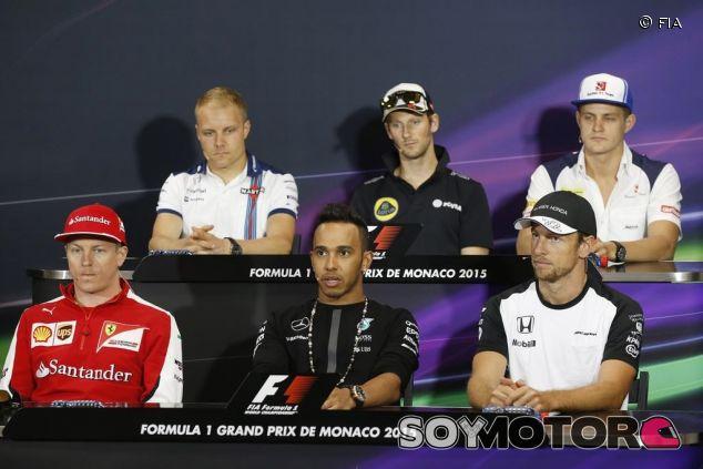 Räikkönen, Hamilton, Button, Bottas, Grosjean y Ericsson en la rueda de prensa - LaF1