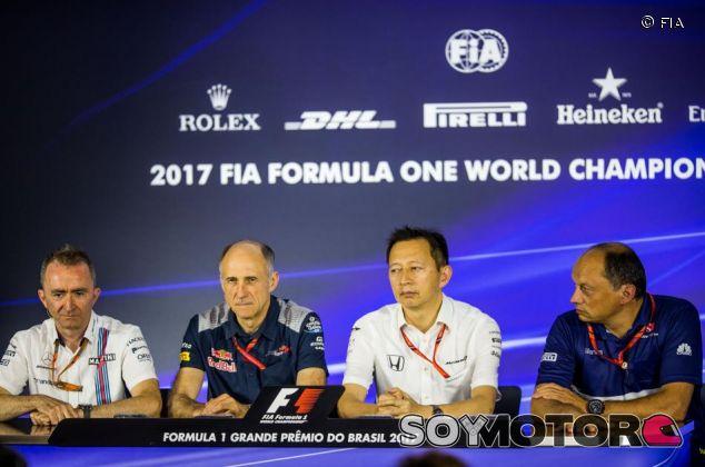 De izq. a der.: Paddy Lowe, Franz Tost, Yusuke Hasegawa y Fred Vasseur – SoyMotor.com