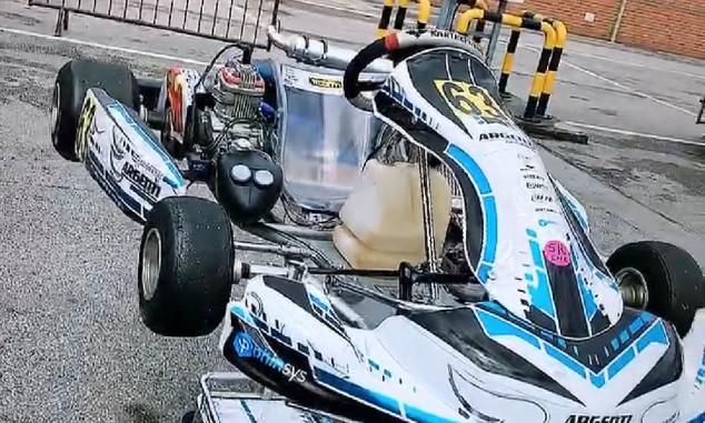 Russell 'vuelve' al karting para preparar el regreso de la F1 - SoyMotor.com