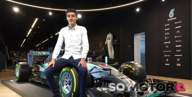 George Russell se une al programa de jóvenes pilotos de Mercedes - SoyMotor.com