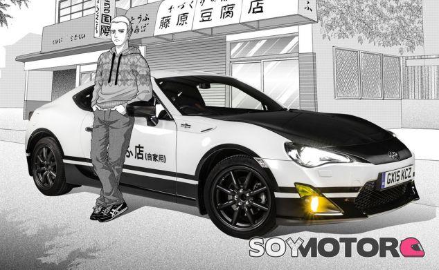 Una estética manga y un modelo real. El Toyota GT86 es idéntico al AE86 de Initial D - SoyMotor