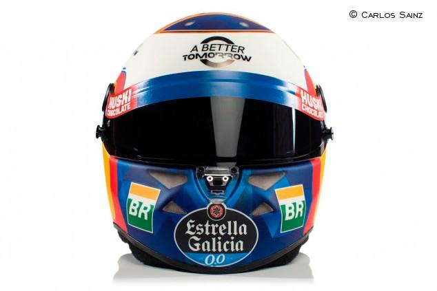Carlos Sainz presenta su casco para su primera temporada con McLaren - SoyMotor.com