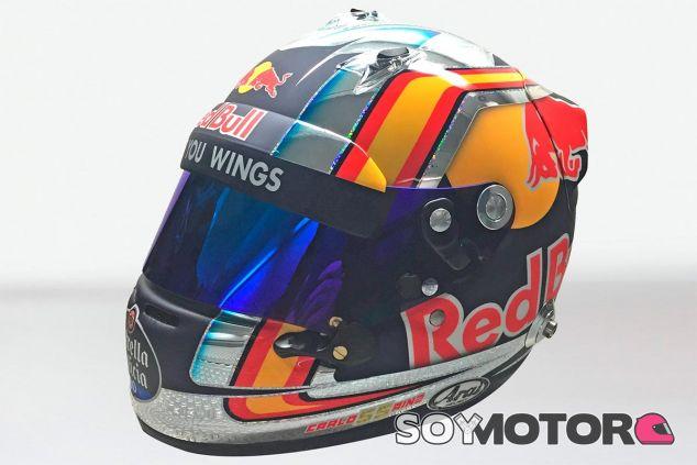 El casco de Carlos Sainz para la temporada 2017 - SoyMotor