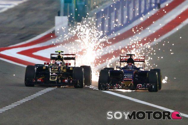 Duelo entre Pastor Maldonado y Max Verstappen en el pasado Gran Premio de Baréin - LaF1