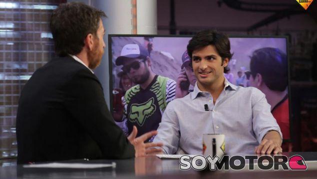 Sainz durante el programa de 'El Hormiguero 3.0' - SoyMotor