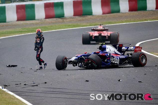 El coche de Sainz tras su accidente en los Libres 1 de Japón - SoyMotor