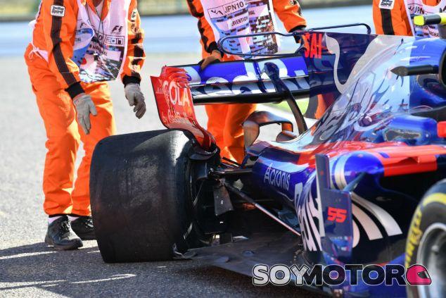 El STR12 de Sainz tras su pinchazo en Suzuka - SoyMotor.com