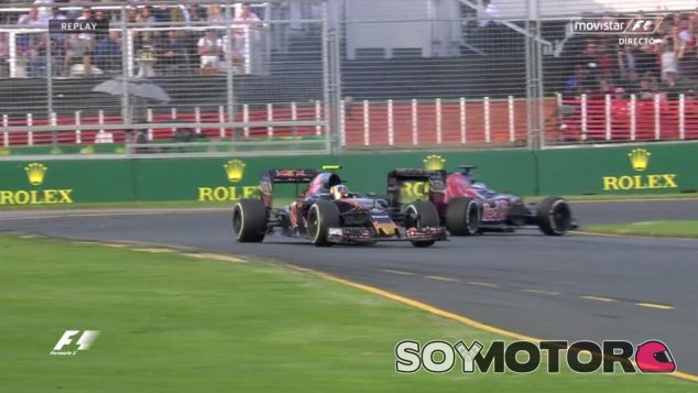 Trompo de Max Verstappen tras impactar con Carlos Sainz en una frenada - LaF1