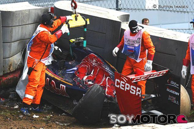 Accidente de Sainz en el GP de Rusia - LaF1