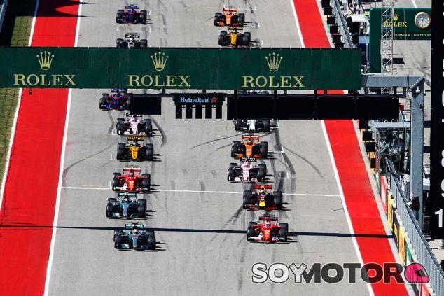 Salida de la carrera del Gran Premio de Estados Unidos - SoyMotor.com
